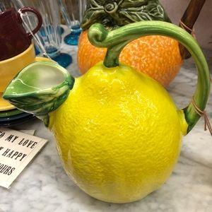 SUR LA TABLE Lemon Pitcher Yellow